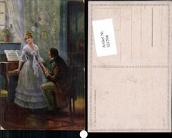 531704,Künstler AK N. Dehlberg Frau Liebe Paar Klavier Musik Herzensfrage - Paare