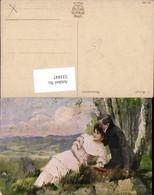 531847,Künstler AK C. Weber Frau Liebe Paar - Paare