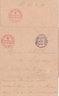 """Enveloppe Et Lettre Avec """" CROIX-ROUGE FRANÇAISE CERCLES CANTINES S.S.B.M. """" TRESOR ET POSTES - Marcophilie (Lettres)"""