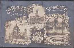Oude Postkaart 1913 Schaerbeek Schaarbeek Un Bonjour De (petit Pli) (klein Kreukje) Brussel Bruxelles - Schaerbeek - Schaarbeek