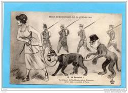 Guerre 1914--la République Tenant En Laisse Les Chiens-Guillaume Et François Joseph-illustration-P Jarry - Guerra 1914-18