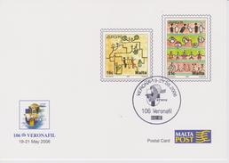 Malta 2006 Exhibition Card Veronafil - Europa - Malta
