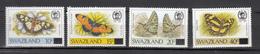 Swaziland 1990,4V,ovpt,part Set,butterflies,vlinders,schmetterlinge,papillons,mariposas,farfalle,MNH/Postfris(A3046) - Papillons