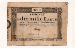 MB-FR 10.000 Assignat De Dix Mille Francs An 3 Hypothéqué Sur Les Domaines Nationaux - Assignats & Mandats Territoriaux