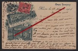 """76 LE HAVRE -- Café """" TORTONI """" _ Terrasse Et Magnifique Salle Louis XVI _ Place Gambetta, Prés Le Grand Théâtre. - Cafés"""