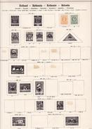Estonie - Collection Vendue Page Par Page - Timbres Oblitérés / Neufs *(avec Charnière) -Qualité B/TB - Estonie