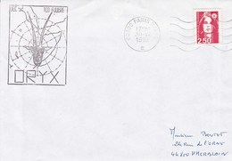 TCD FOUDRE  ORYX  30/12/92 PARIS NAVAL - Marcophilie (Lettres)