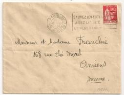 PARIS XV RUE D'ALLERAY, SAUVEZ LES ELITES AIDEZ LA CITE UNIVERSITAIRE. 1936. - Oblitérations Mécaniques (flammes)