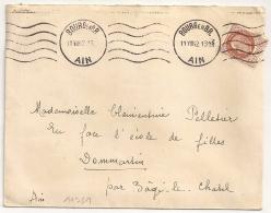 BOURG EN BRESSE Ain Sur Enveloppe 1942. - Marcophilie (Lettres)