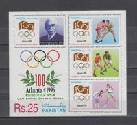 Pakistan Olympic S/S Rare 1996 Olympic MNH - Pakistan