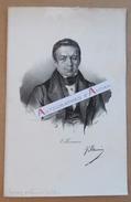 Gravure XIXè - Abel François VILLEMAIN - Ecrivain & Homme Politique - Signature Autographe Imprimée - Delpech - Estampes & Gravures