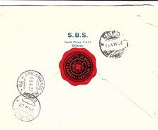 SUISSE 19.4.1927 LETTRE SOCIETA DI BANCA SVIZZERA RACCOMANDATA CHIASSO POUR PALANZO / 4146 - Schweiz