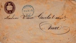 SUISSE 12.X.1874 LETTRE N.SCHMIDER PORRENTRY POUR BURE / 3130 - Stamped Stationery