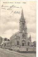 ENVIRONS DU HAVRE . St. ADRESSE . L'EGLISE . JOLI AFFR DEBUT DES ANNEES 1900 AU VERSO . 2 SCANES - Sainte Adresse