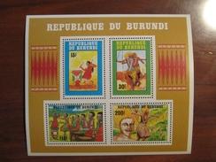 Burundi 1992 MNH BL 131 Very Small Bend