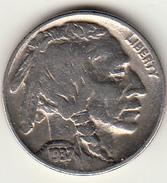 Stati Uniti, USA. Five Cent Nickel Indian Head Buffalo 1937 F - Federal Issues