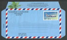 CALEDONIE Aérogramme 1996 N° 14 ** Neuf MNH Lègère Froissure Languette Droite Cote 10 € Avion ATR 42 Planes Transpo - Luftpost