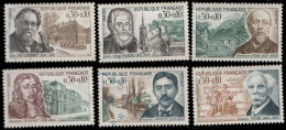 France 1966. ~ YT 1470 à 1475 - Série Célébrités - Oblitérés