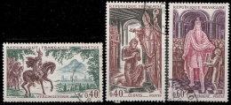 France 1966. ~ YT 1495 à 1497 - Série Grands Noms De L'Histoire - France