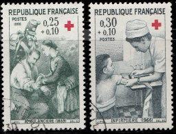 France 1966. ~ YT 1508 à 1509 - Série Croix Rouge - Oblitérés