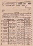 PROVINCIA  ASTI-COMUNE DI ANTIGNANO CARTA ANNONARIA INDIVIDUALE PER ZUCCHERO,GRASSI E SAPONE-DA NOVEMBRE A FEBBRAIO 1943 - Documenti Storici
