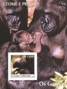 S. Tomè 2004, Animals, Gorillas, BF IMPERFORATED