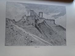 15OM.133  Slovakia  Csejte Čachtice  -Csejte Var   1898 Print - Estampes & Gravures
