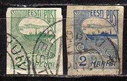 ESTLAND 1920 - MiNr: 15 + 17  Used - Estland