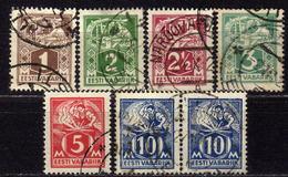 ESTLAND 1922 - MiNr: 32-39 Lot  Used - Estland