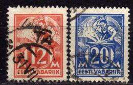 ESTLAND 1925 - MiNr: 57+59  Used - Estland