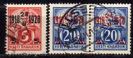 ESTLAND 1928 - MiNr: 69 + 72 Paar  Used - Estland
