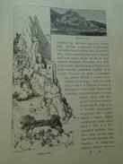 15OM.137   Slovakia  Sztrecsno Vara  -Vag Völgye - Lednica  Lednicz Var  1898 Print - Estampes & Gravures