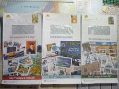 Lot De 6 PAP Catalogues De La Poste /Philaposte 2007 Et 2008 - Biglietto Postale