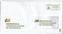 ESPAÑA CC FRANQUEO PAGADO IBERDROLA ELECTRICIDAD ELECTRIC COMPANY - Electricidad