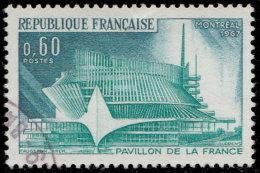 France 1967. ~ YT 1519 - Expo De Montréal. Pavilon Français - Oblitérés