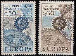 France 1967. ~ YT 1521 à 1522 - Série Europa - Oblitérés