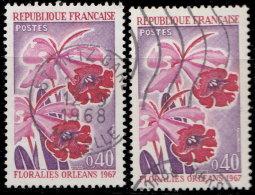France 1967. ~ YT 1528 Par 2 - Floralies D'Orléans. Orchidées - Oblitérés