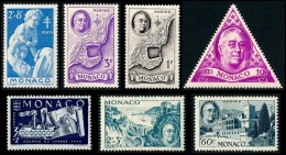 MONACO 1946 - Yv. 293 294 295 297 298 299 300 *   Cote= 4,85 EUR - 7 Val. (Enfance, Paquebot, Roosevelt) ..Réf.MON20408 - Mónaco