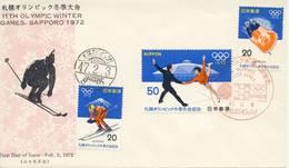 O.W.S. Sapporo: FDC Japan - 1972 - Winter 1972: Sapporo