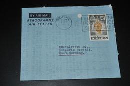 13- Aerogramme Onitsha To Germany - Nigeria (1961-...)