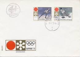 O.W.S. Sapporo: FDC Joegoslavië - 1972 - Winter 1972: Sapporo