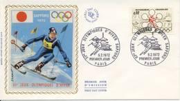 O.W.S. Sapporo: FDC Frankrijk - 1972 - Winter 1972: Sapporo
