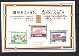 Iraq 1963,3V In Block,freedom From Hunger,sheep,trees,MNH/Postfris(L2919) - Tegen De Honger