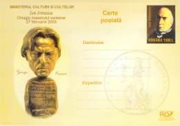 ROMANIA 01 George ENESCU  Ion IRIMESCU  Auflage 5.000  Cod  036/2003 - Rumania