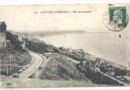 """93. SAINTE-ADRESSE . VUE D'ENSEMBLE . AFFR """" PASTEUR """" SUR RECTO DE 1923 - Sainte Adresse"""