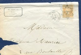 M3  NAPOLEON III EMPIRE FRANC 10 C PARIS ETOILE 2 1866 - 1863-1870 Napoleon III With Laurels
