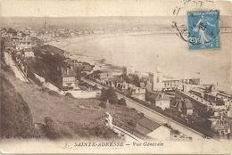 5. SAINTE-ADRESSE - VUE GENERALE . OBLIT SUR RECTO DE 1920 - Sainte Adresse