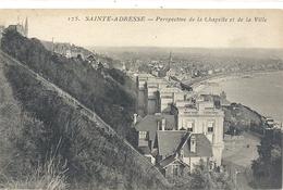 175. SAINTE-ADRESSE - PERSPECTIVE DE LA CHAPELLE ET DE LA VILLE .IMPRIME ILLUSTRE . 2 SCANES . NON ECRITE - Sainte Adresse
