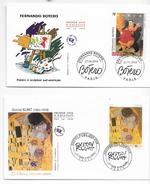 Enveloppes 1er Jour FDC 2002  2 Enveloppes Klim,Botero - FDC