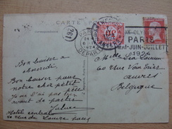 France Pmk 1924-04-06 Mecanique Postmark Jeux Olympiques Paris Mai Juin Juillet On Postcard Tour Eiffel A 9,50 Euro